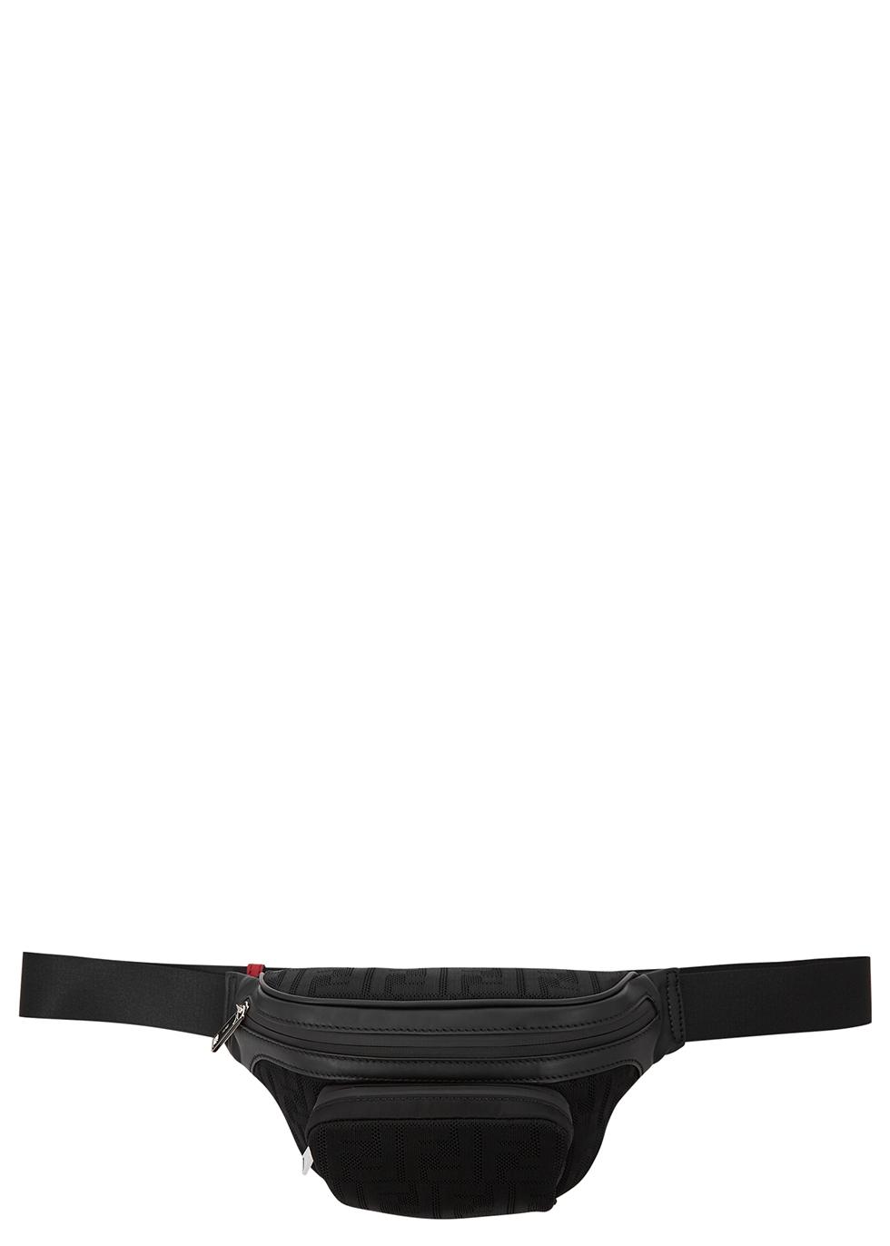 FF black mesh-jacquard belt bag