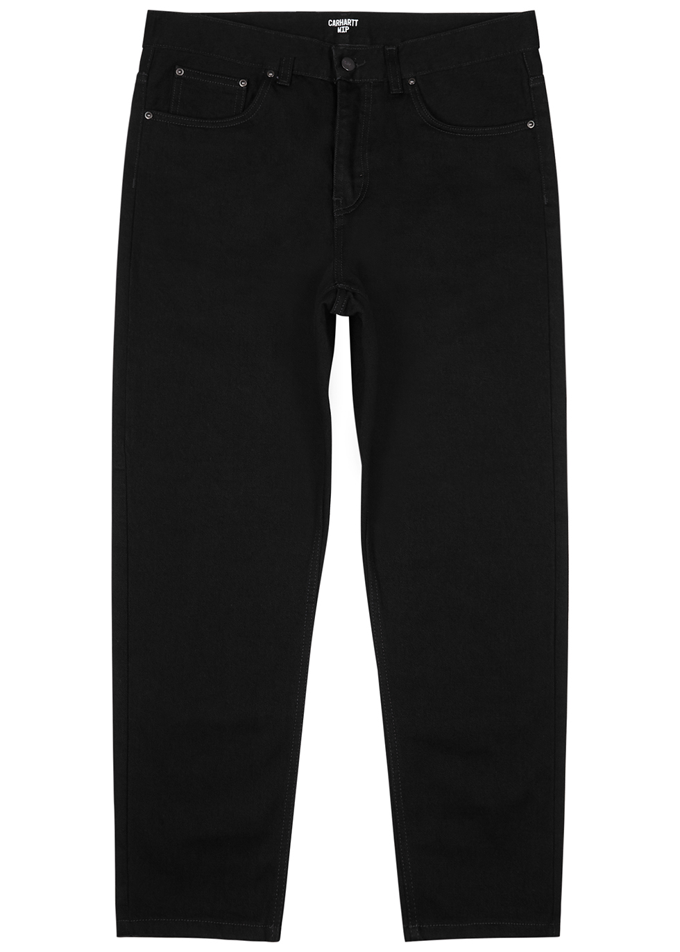 Newel black tapered jeans