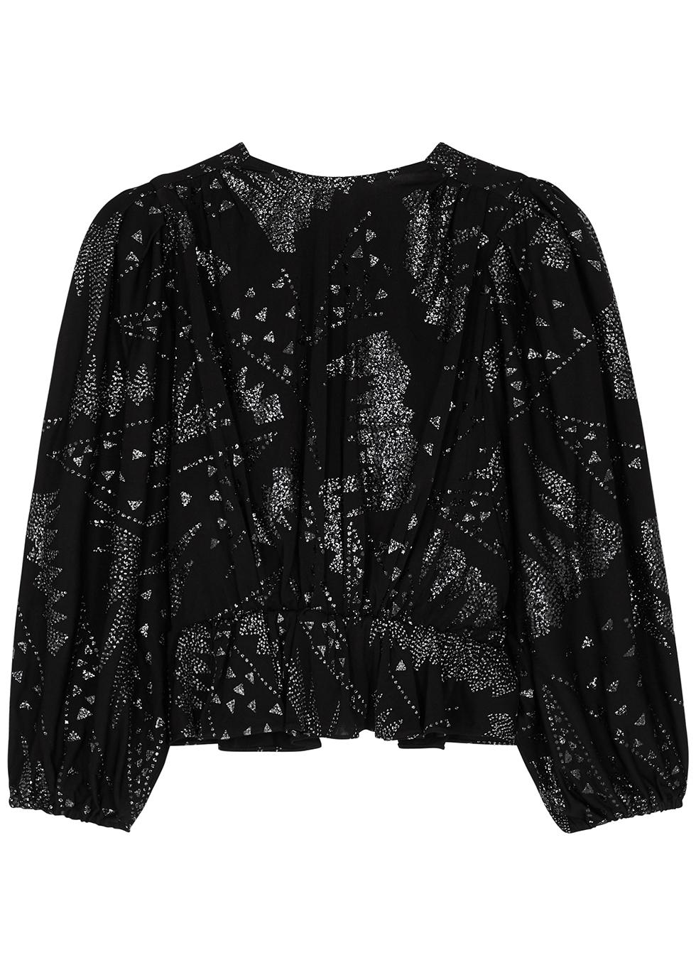 Vyama black glittered top