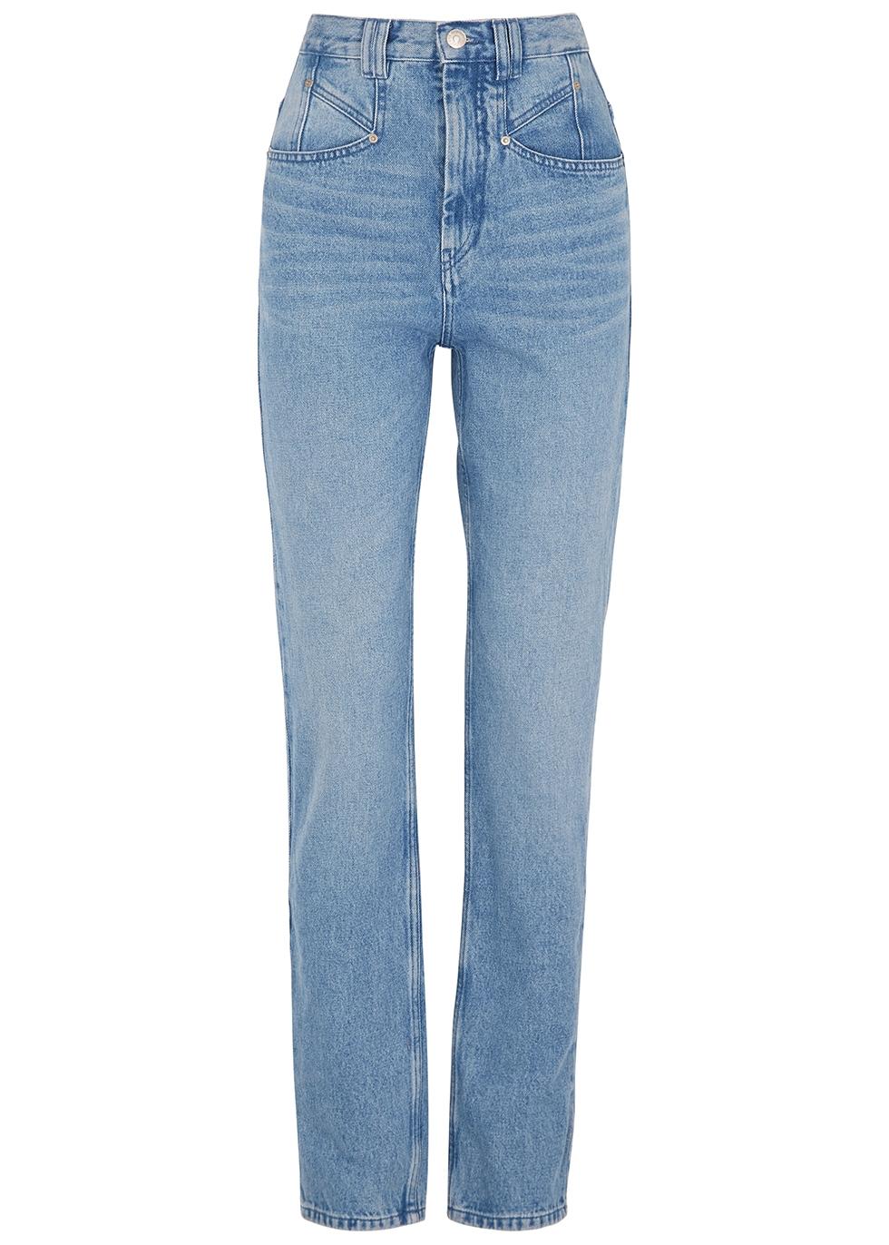 Dominic blue straight-leg jeans