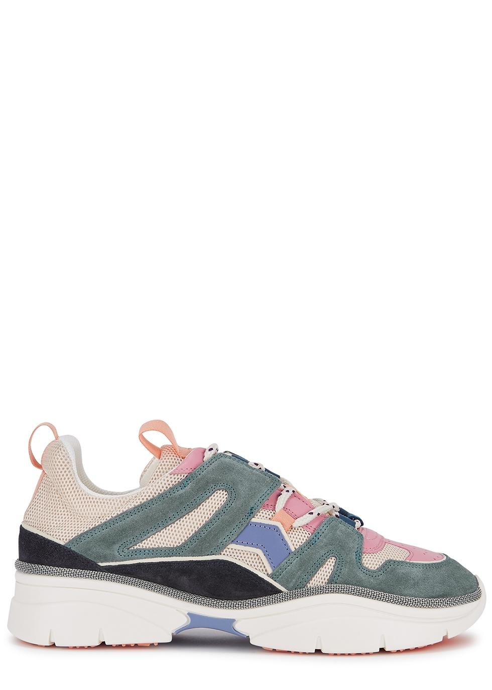 Kindsay panelled mesh sneakers