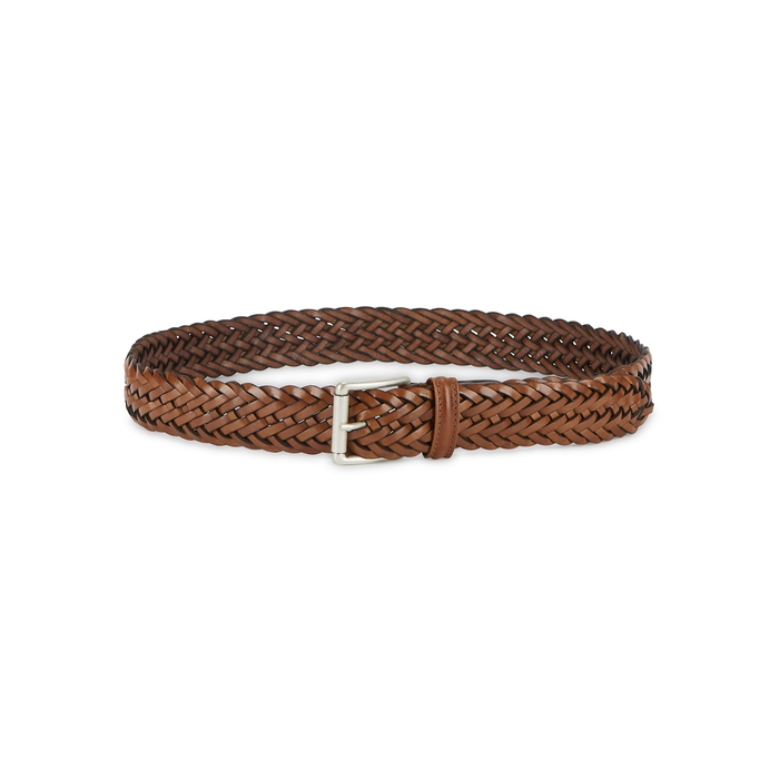 Anderson's Brown Woven Leather Belt