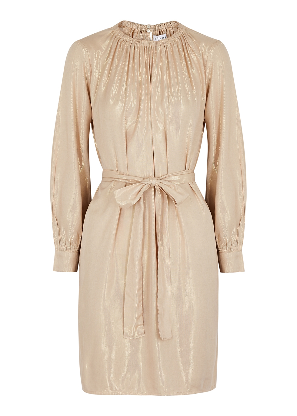 Dasha sand lamé mini dress