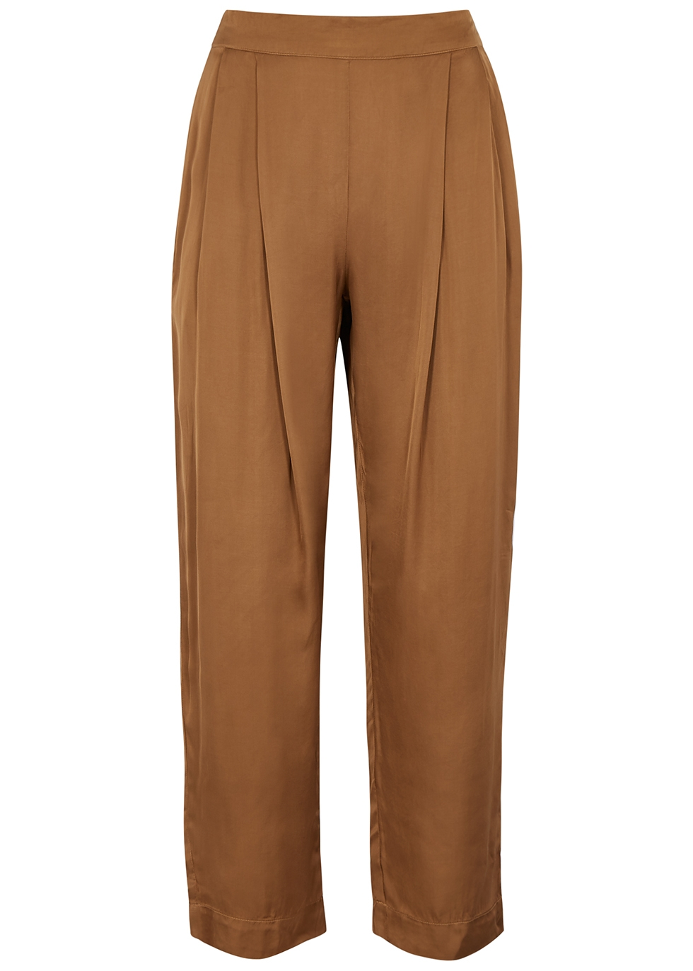 Hillary brown satin trousers