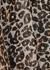 Peyton leopard-print metallic-weave blouse - Velvet by Graham & Spencer
