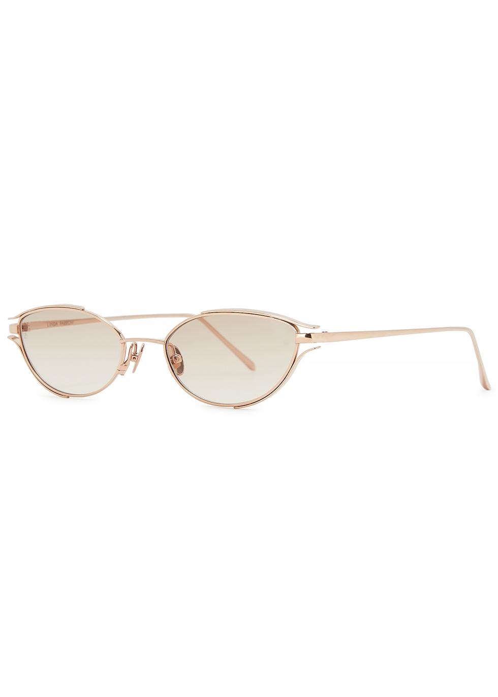 Violet C4 rose gold-tone cat-eye sunglasses