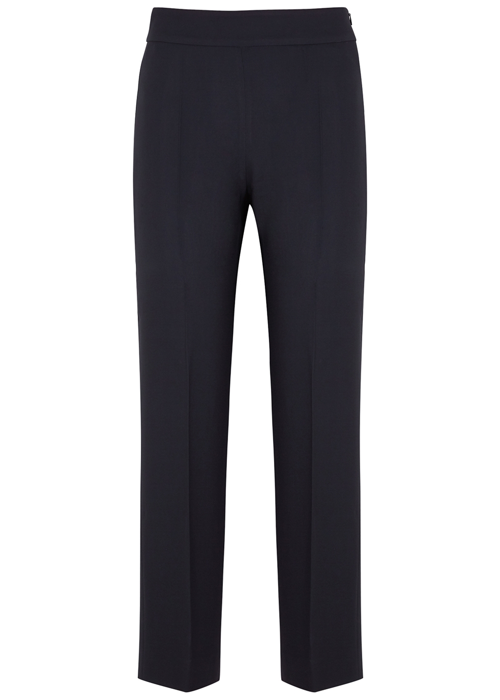 Nirvana navy wide-leg trousers