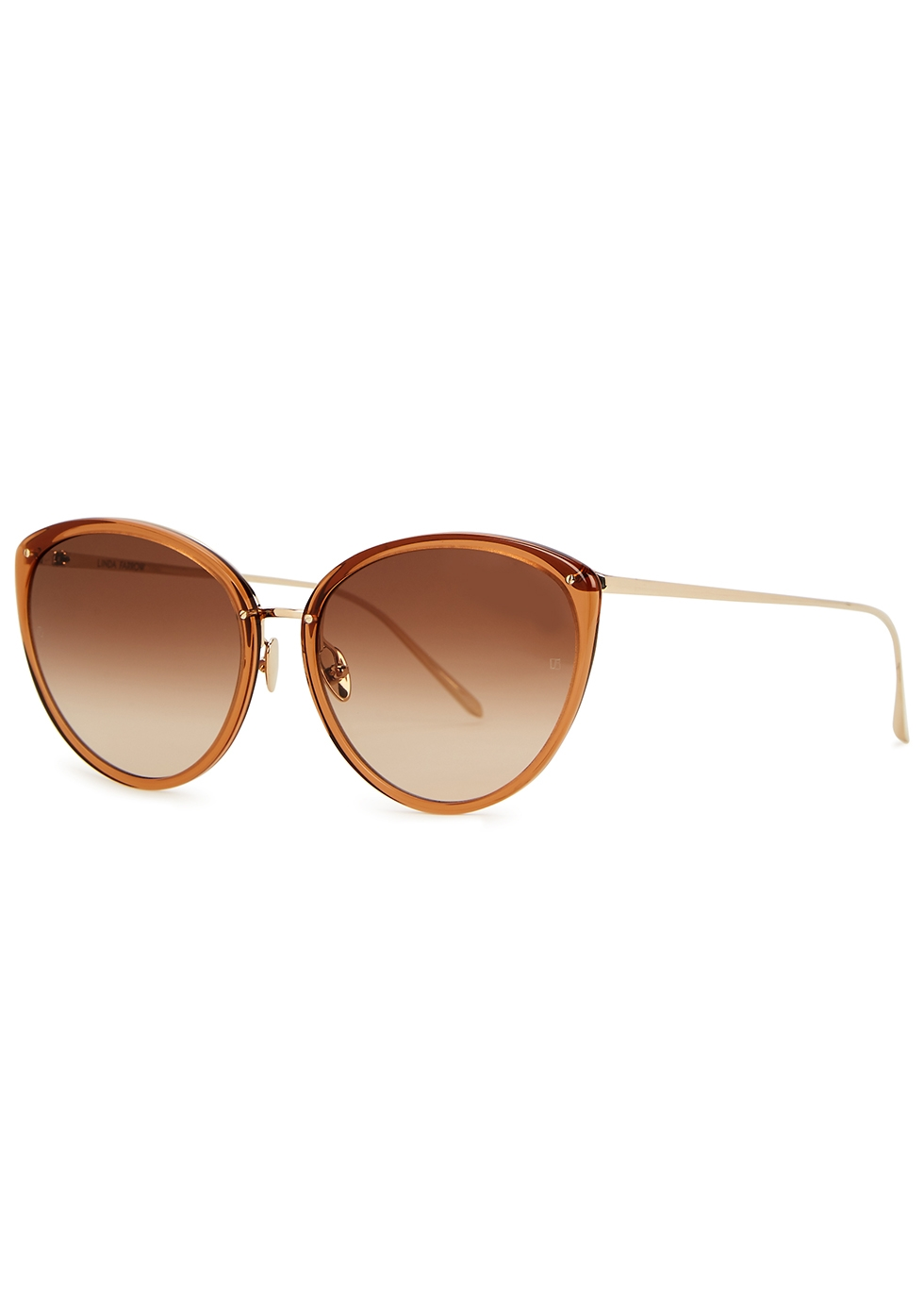 Angelica 22kt gold-plated cat-eye sunglasses