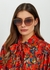 Angelica 22kt gold-plated cat-eye sunglasses - Linda Farrow Luxe