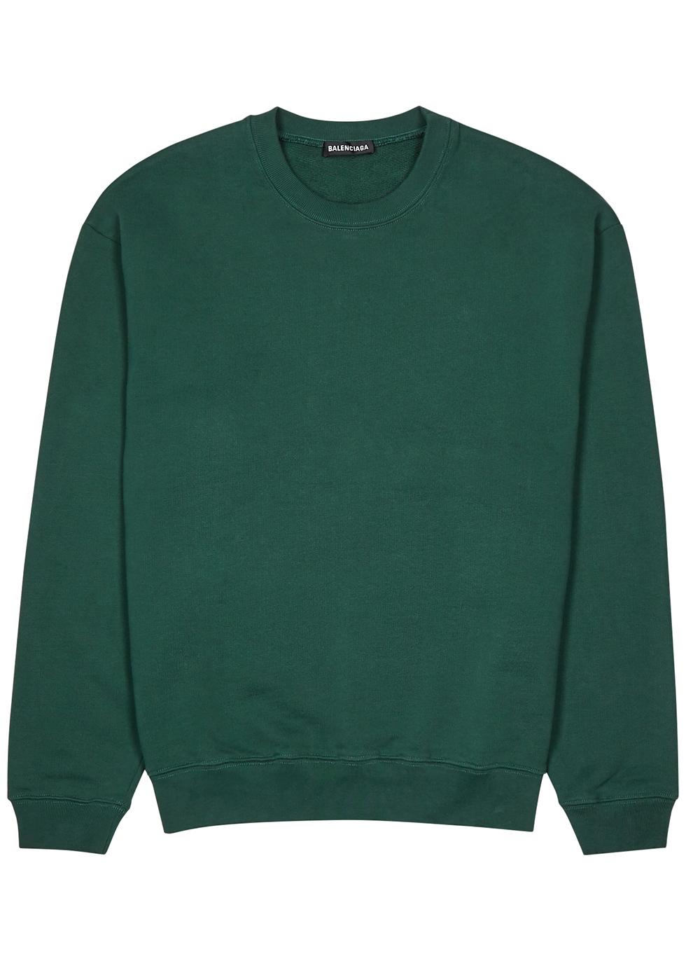 Balenciaga Green logo-print cotton