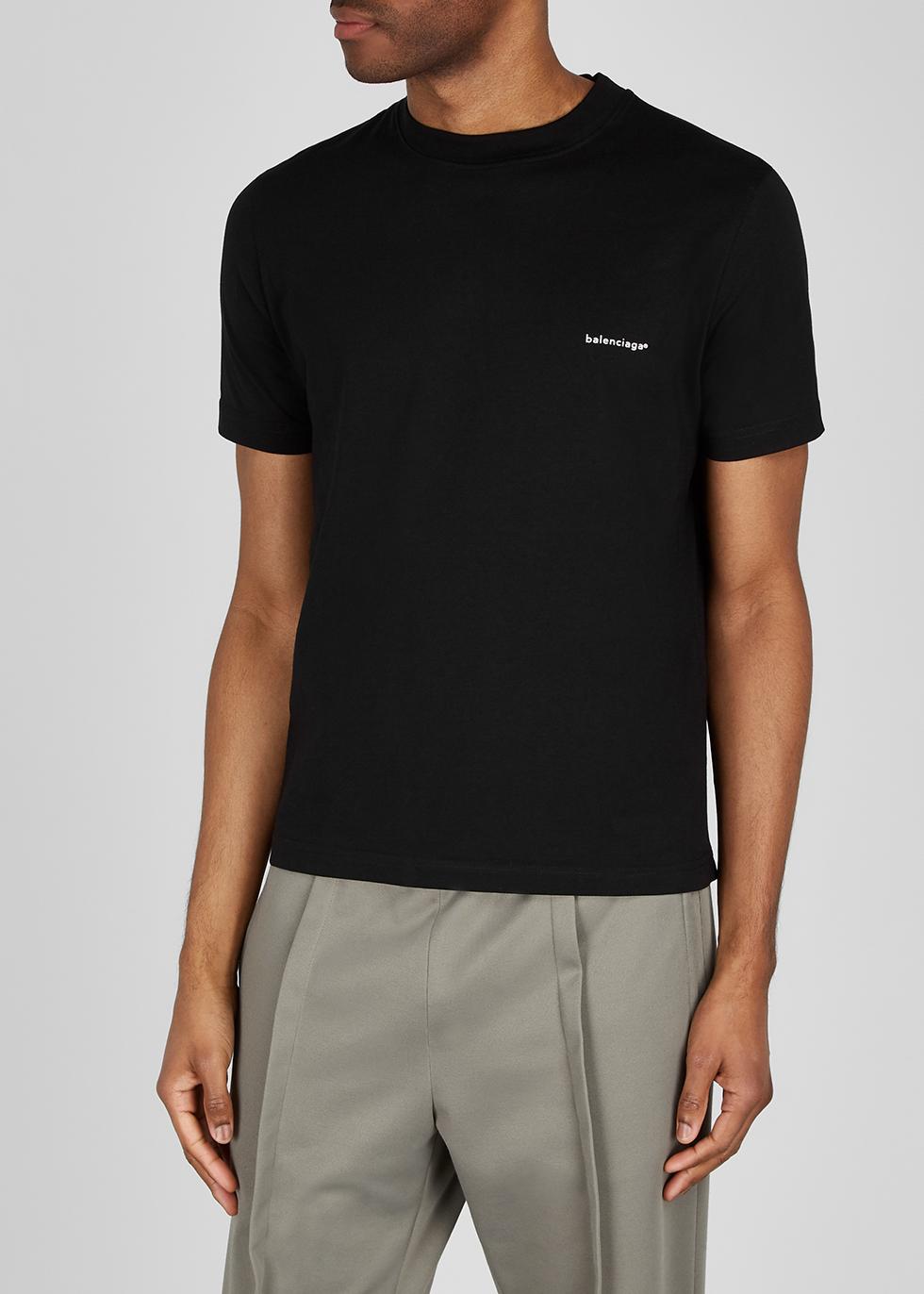 black cotton T-shirt - Harvey Nichols