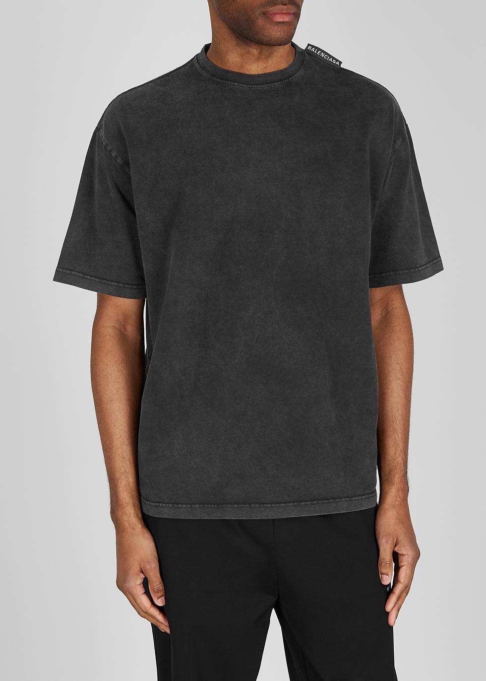 Balenciaga Dark grey cotton T-shirt