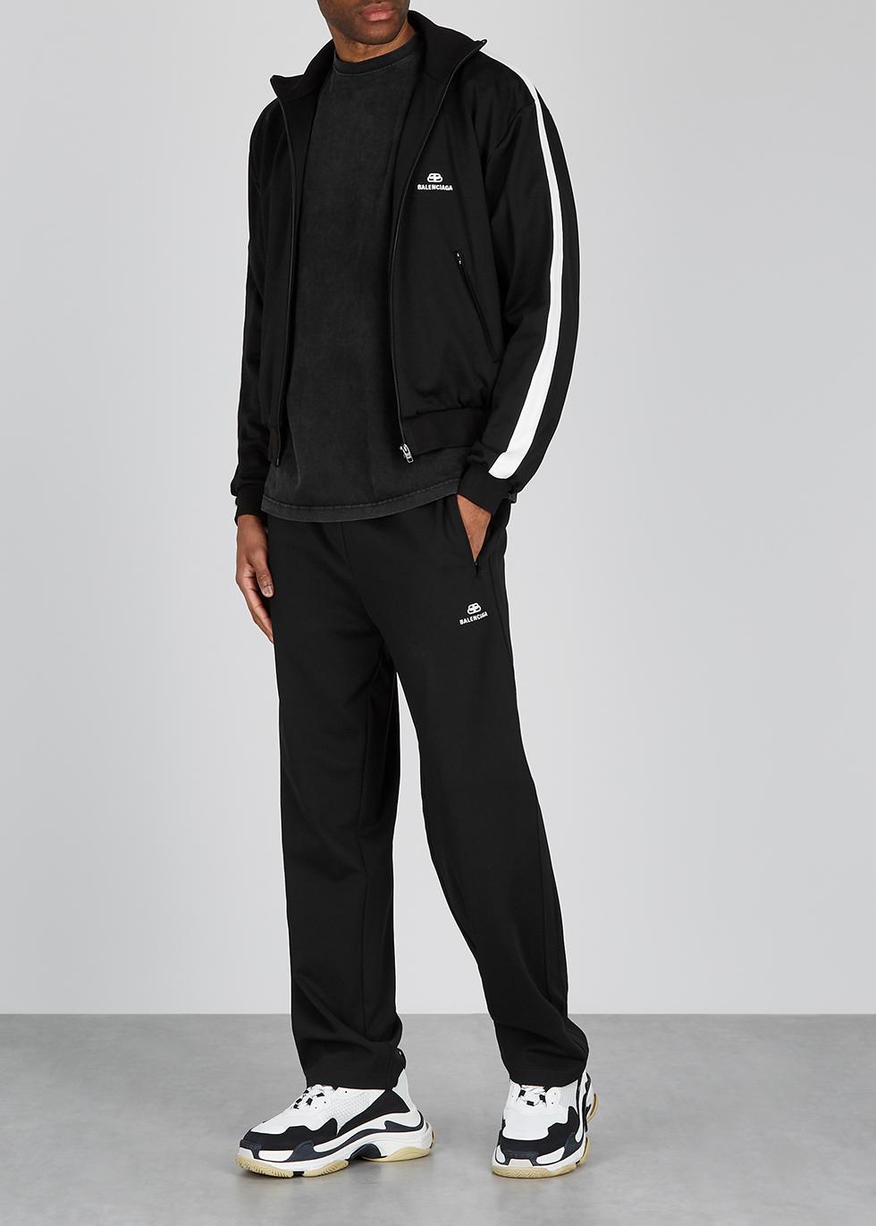 Balenciaga Monochrome jersey track top