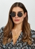 Welch black round-frame sunglasses - Linda Farrow Luxe