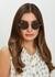 Welch tortoiseshell round-frame sunglasses - Linda Farrow Luxe