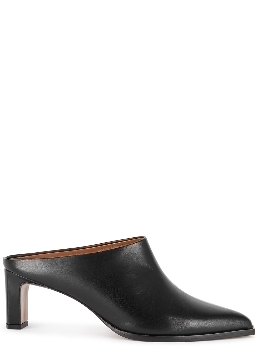 Fave 65 black leather mules