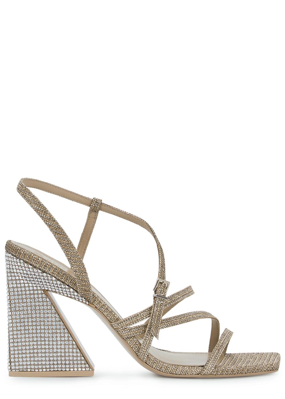 Kelise 100 crystal-embellished metallic sandals