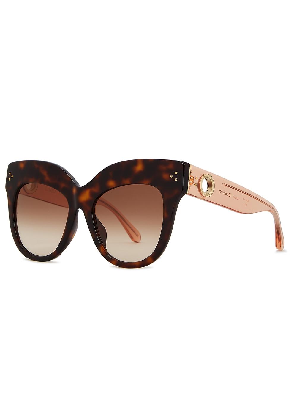 Dunaway tortoiseshell oversized sunglasses