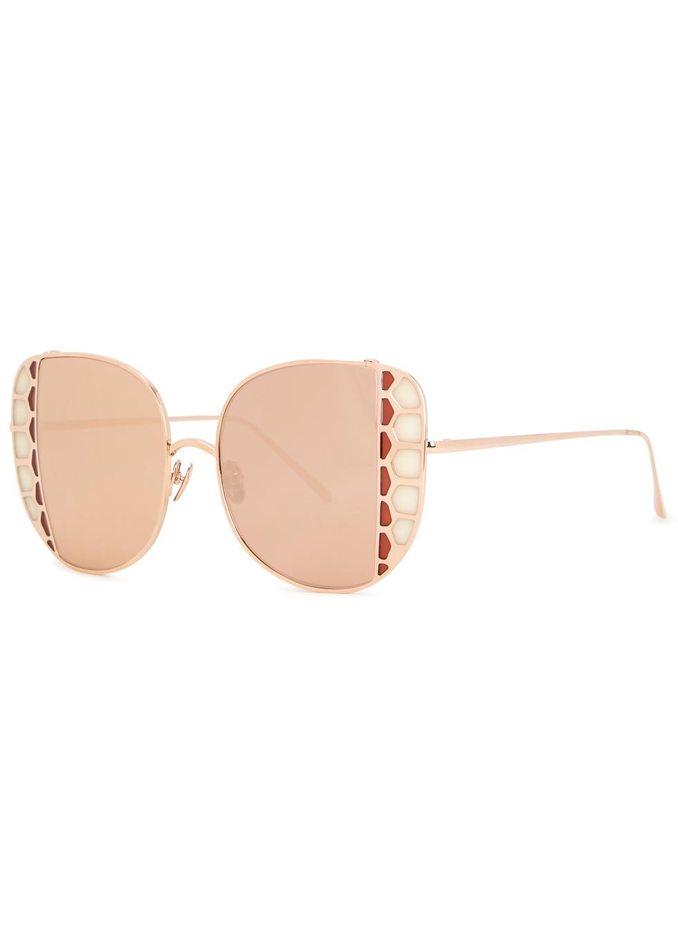 Amelia mirrored oversized sunglasses