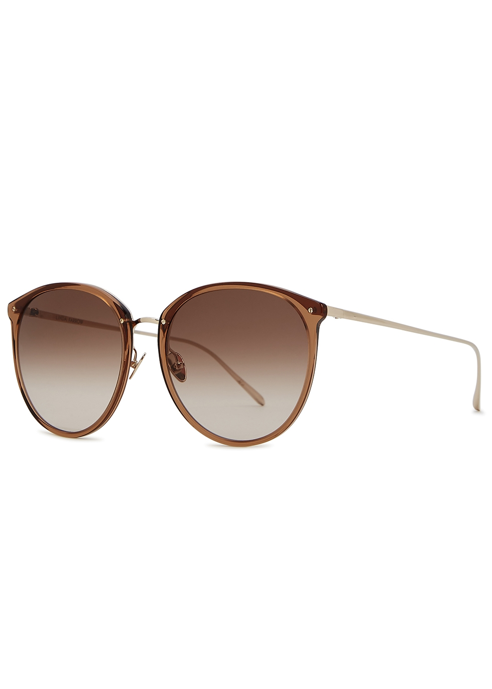 Kings gold-plated oversized sunglasses