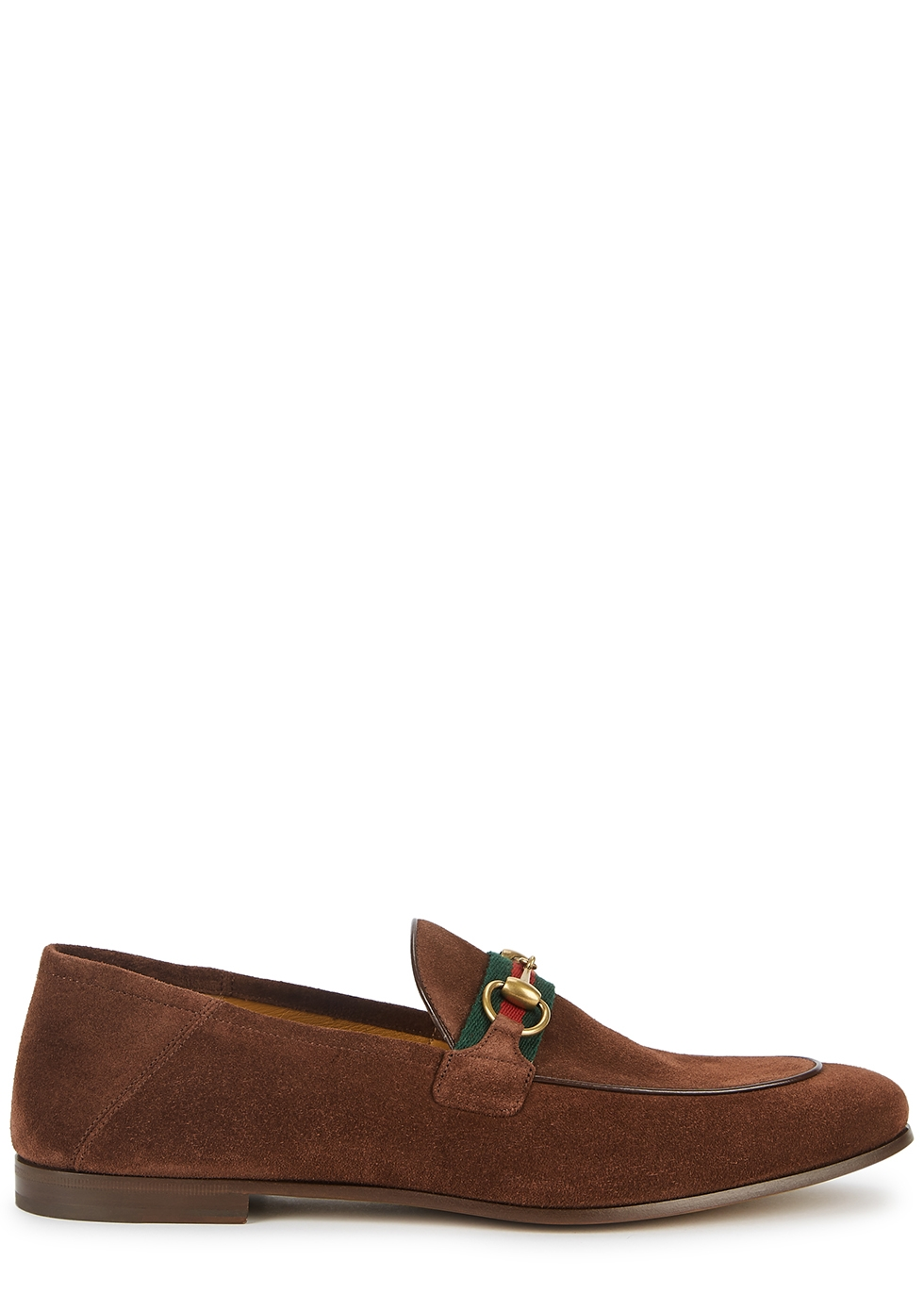Brixton brown suede loafers
