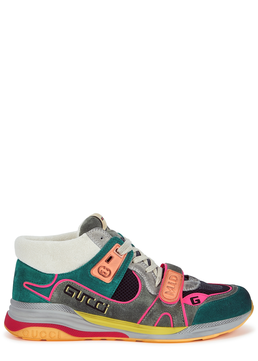 Ultrapace panelled suede sneakers