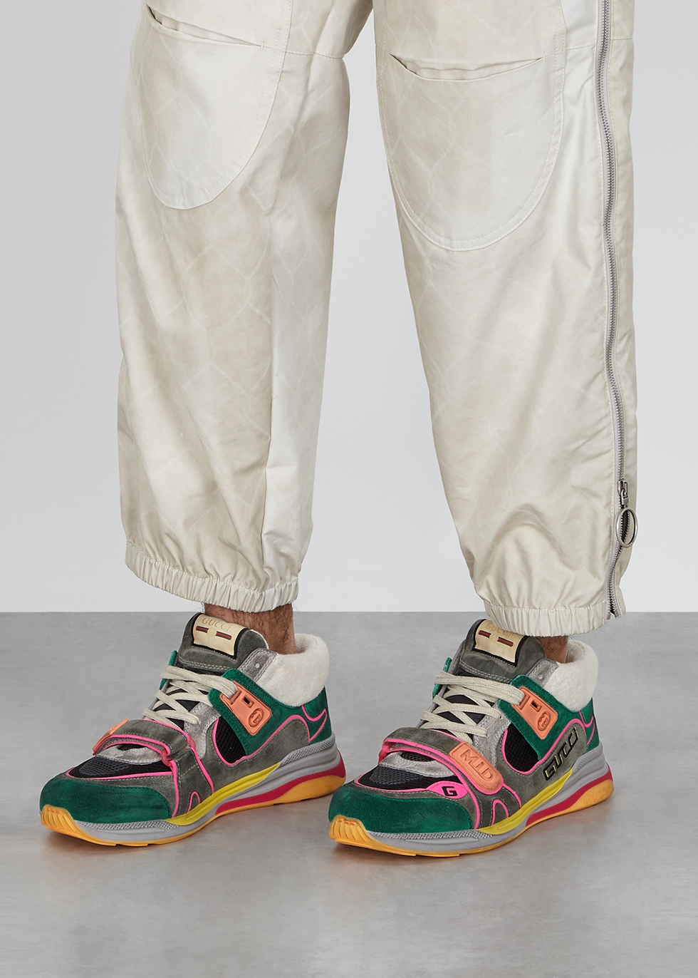 Gucci Ultrapace panelled suede sneakers