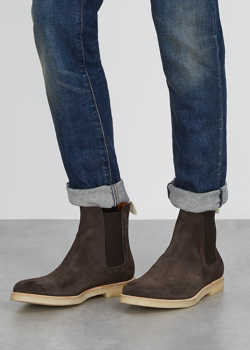 Common Projects Brown brushed suede