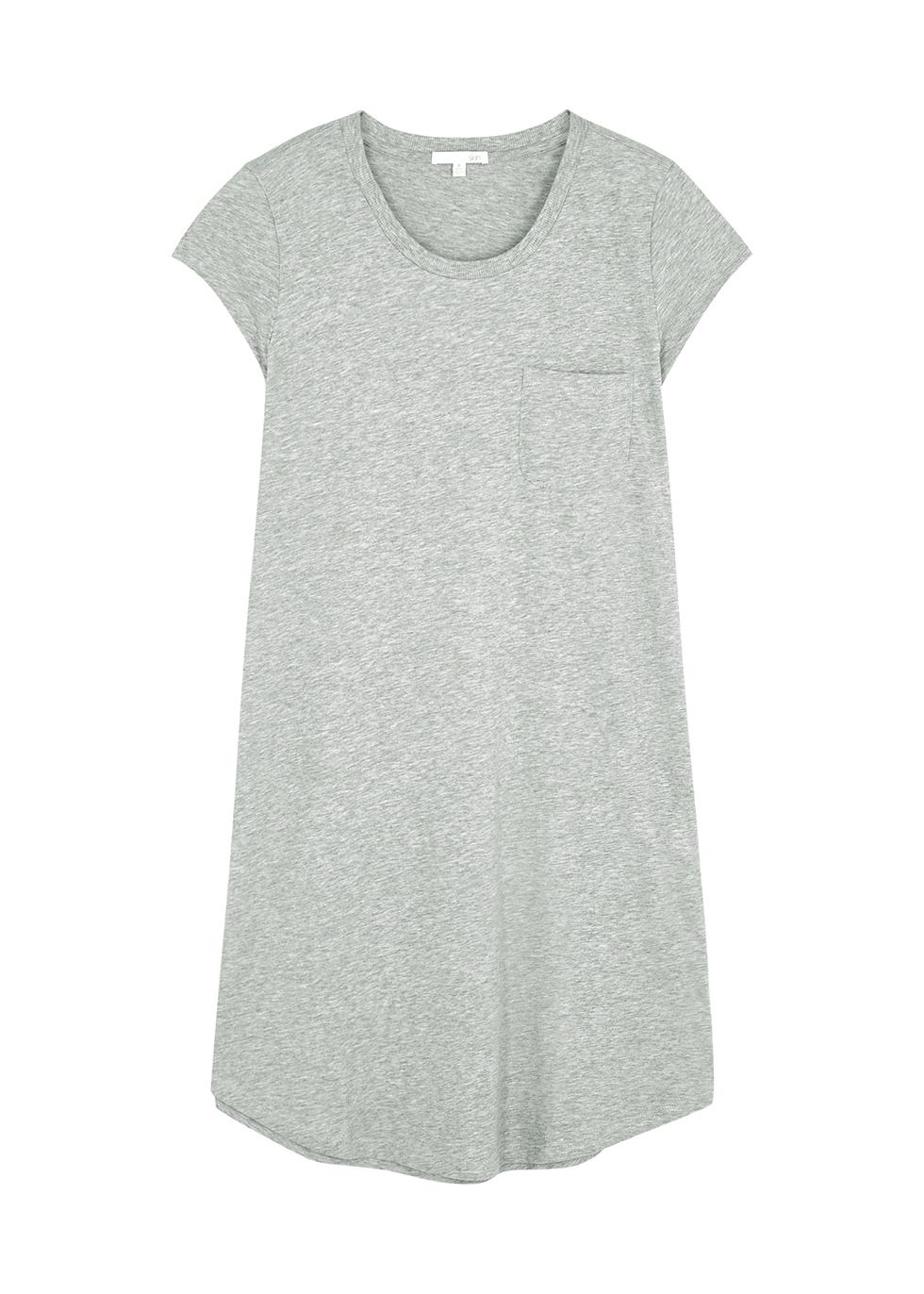 Oksana grey Pima cotton nightdress