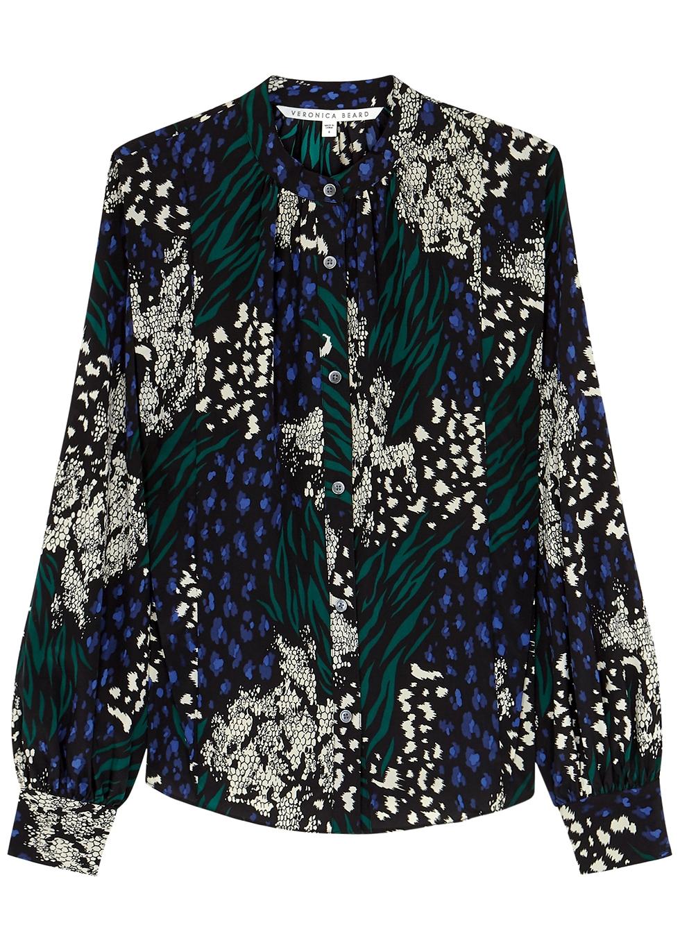 Buckley printed silk crepe de chine blouse