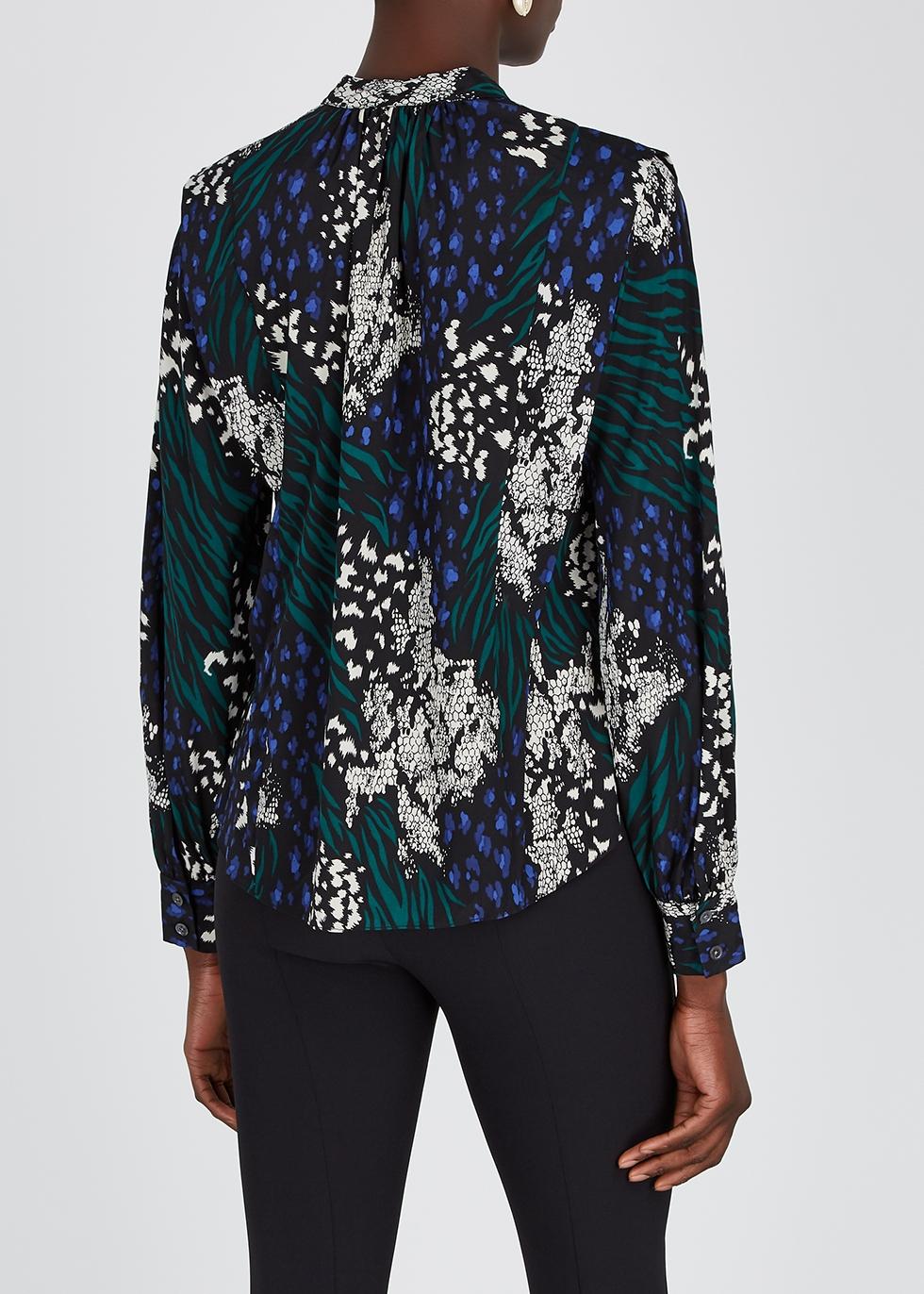 Veronica Beard Buckley printed silk crepe de chine blouse