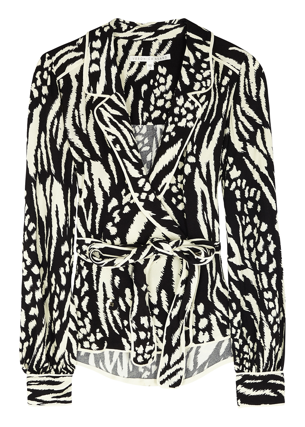 Clive printed belted blouse