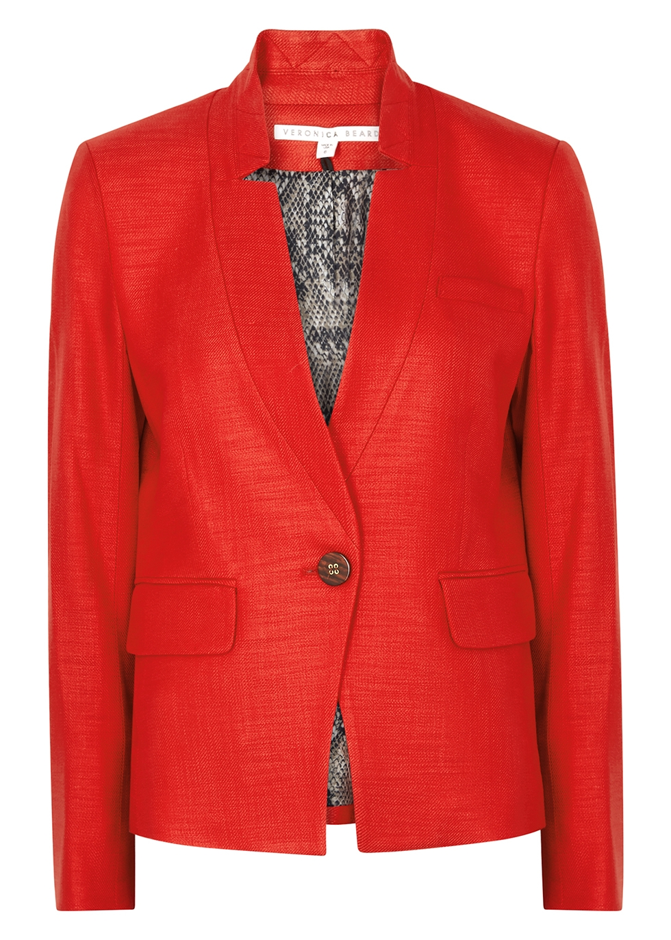 Farley red woven dickey blazer
