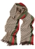 GG jacquard striped wool-blend scarf - Gucci