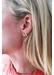Rainbow sapphire earring single c - Rosa De La Cruz