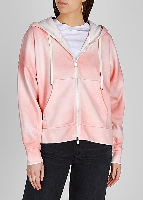 Tie-dye hooded cotton-blend sweatshirt - Moncler