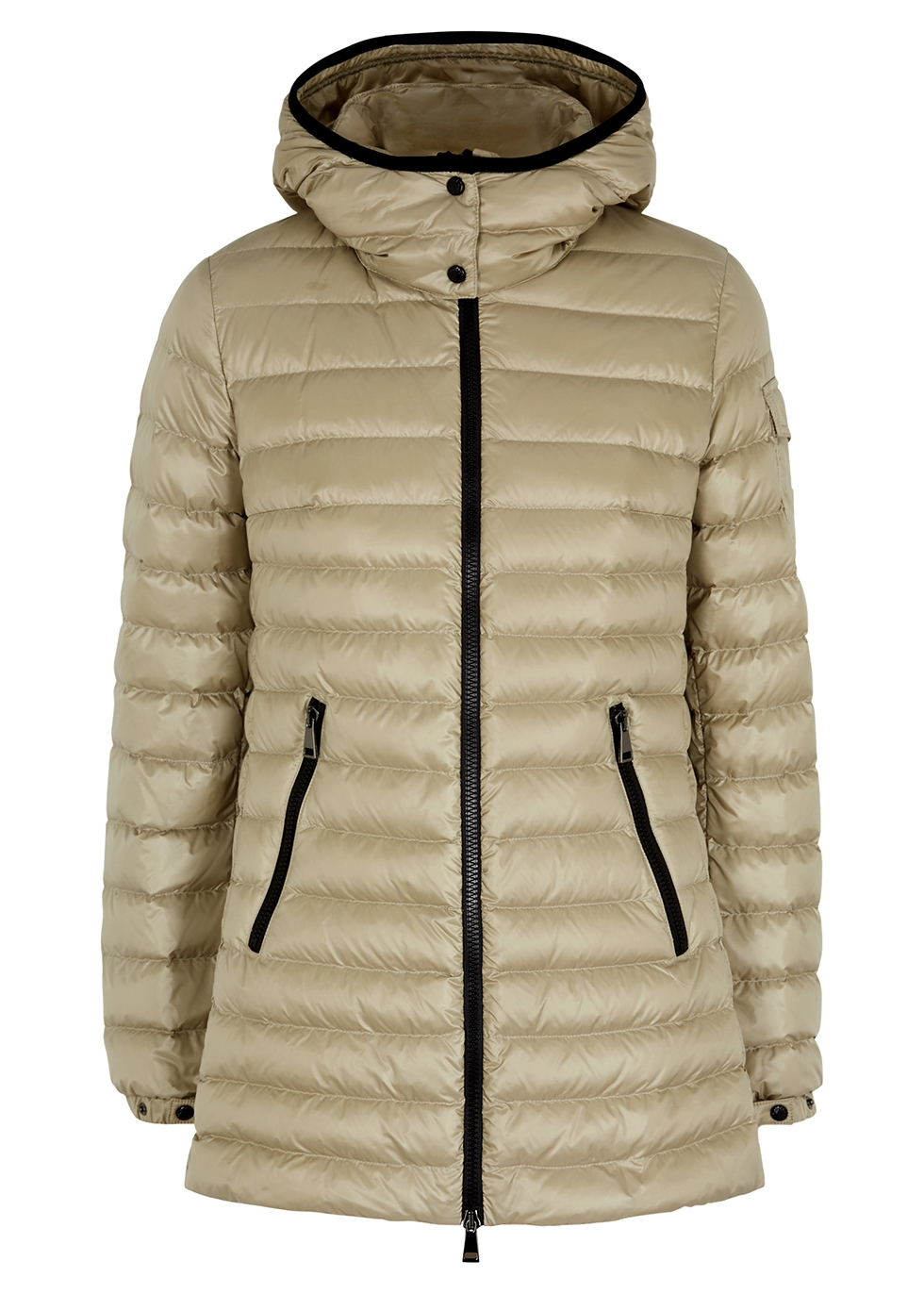 Menthe stone quilted shell jacket
