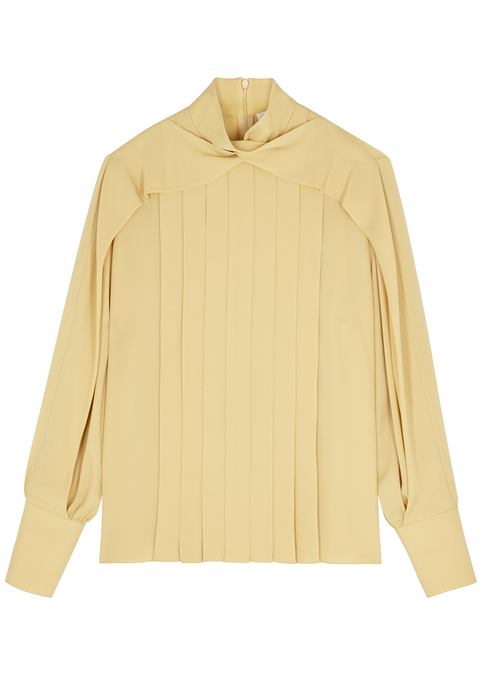 Gilia pleated silk blouse