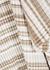 Brown striped draped wool midi skirt - JW Anderson