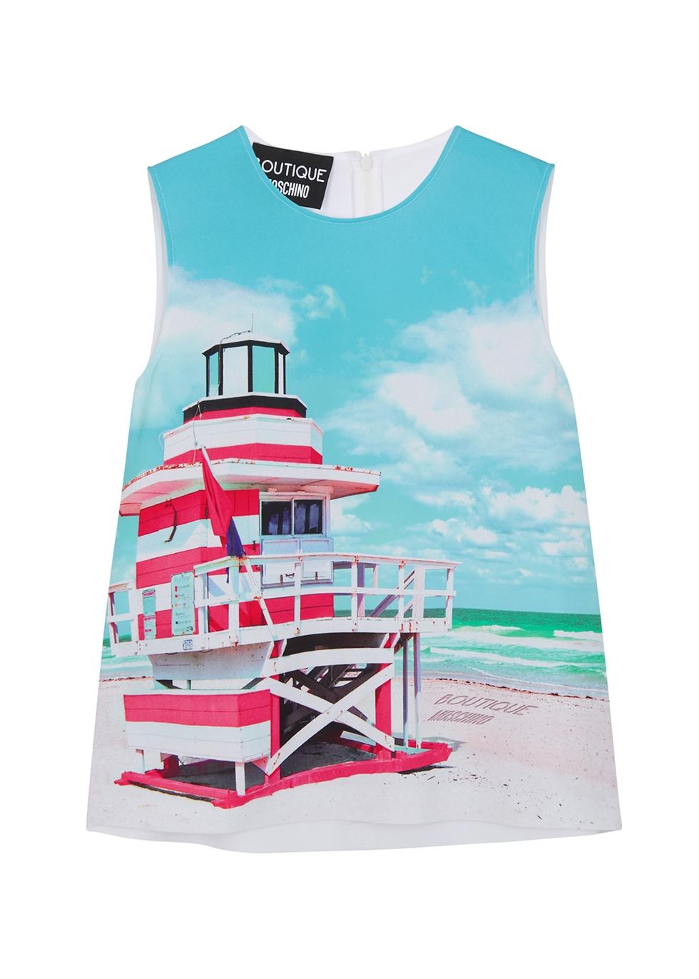Beach-print top
