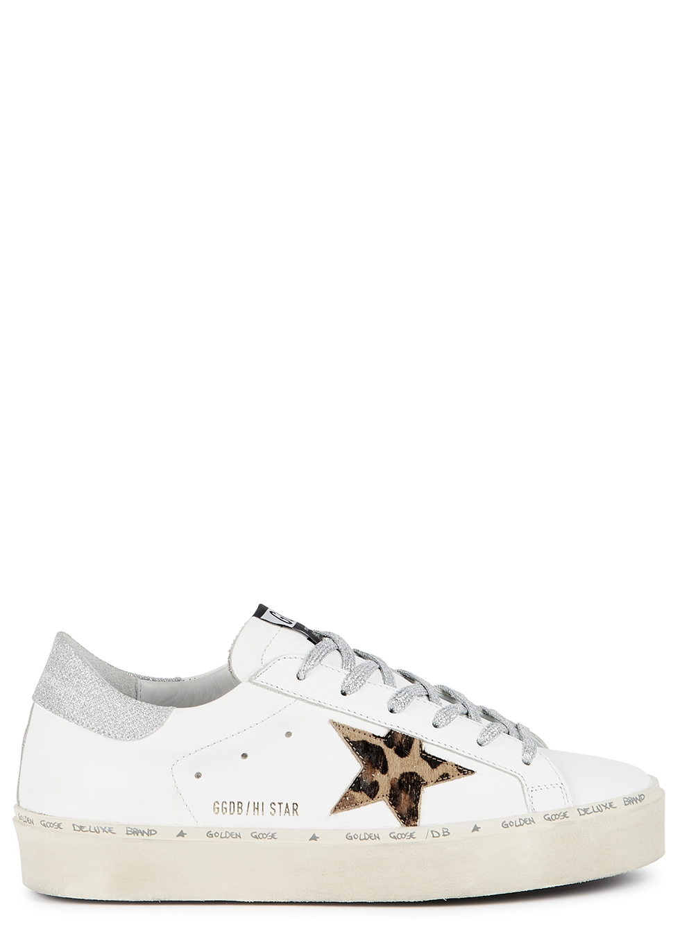 Hi Star white leather flatform sneakers