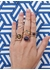 Round cabochon garnet and pink sapphire ring - Rosa De La Cruz