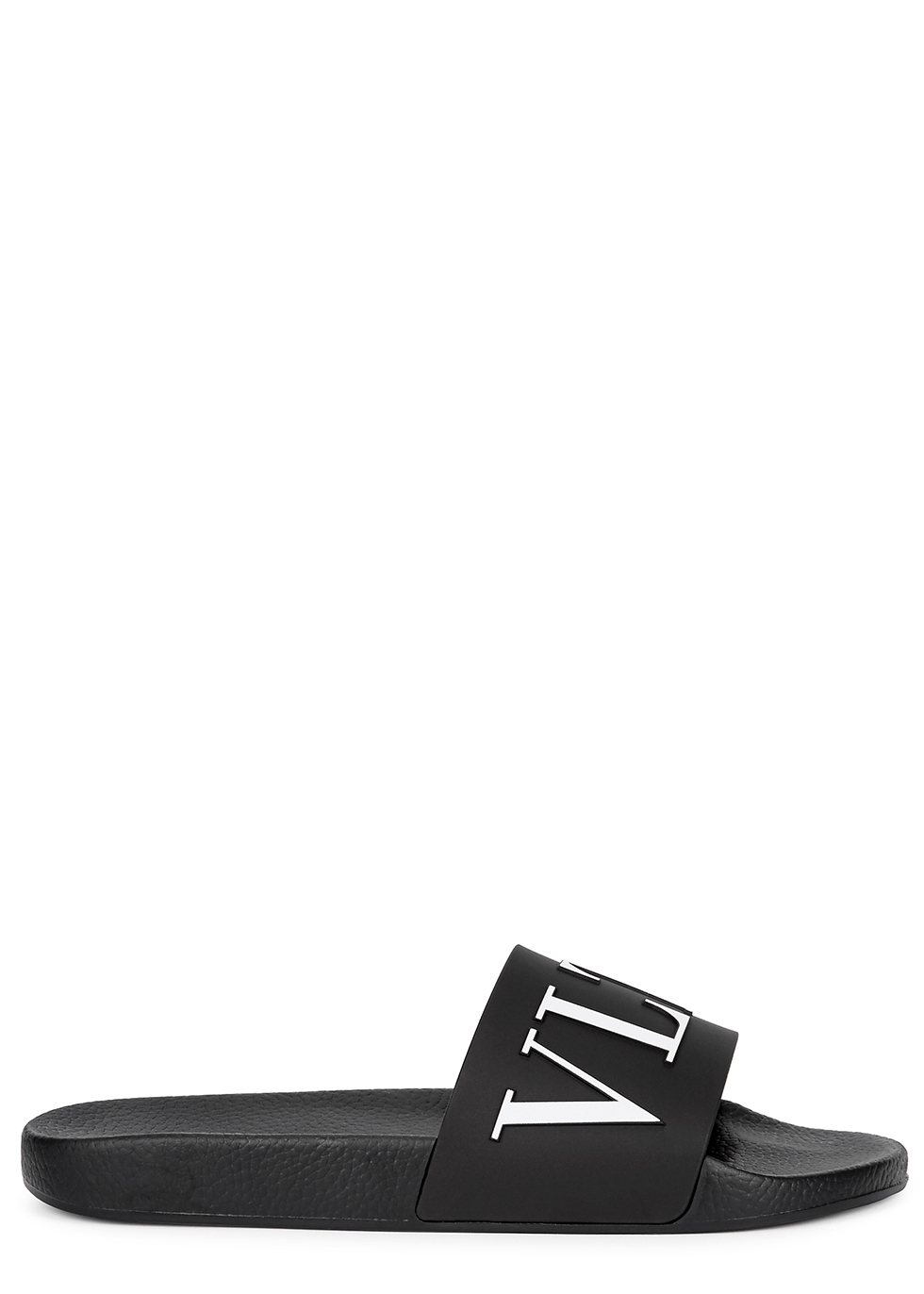Valentino Garavani VLTN black rubber sliders