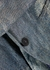 Blue metallic linen-blend twill blazer - forte_forte