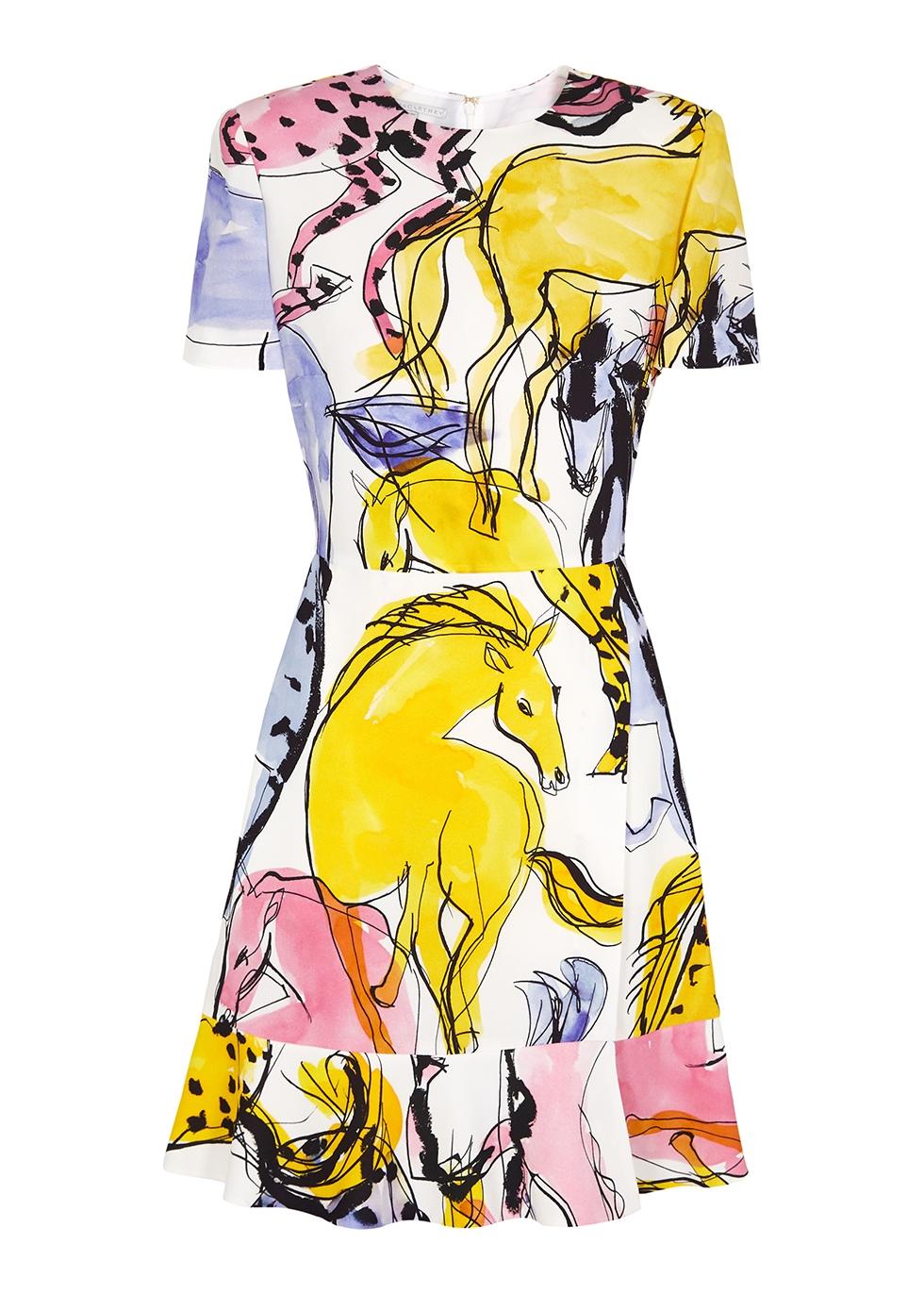 Dariana printed mini dress