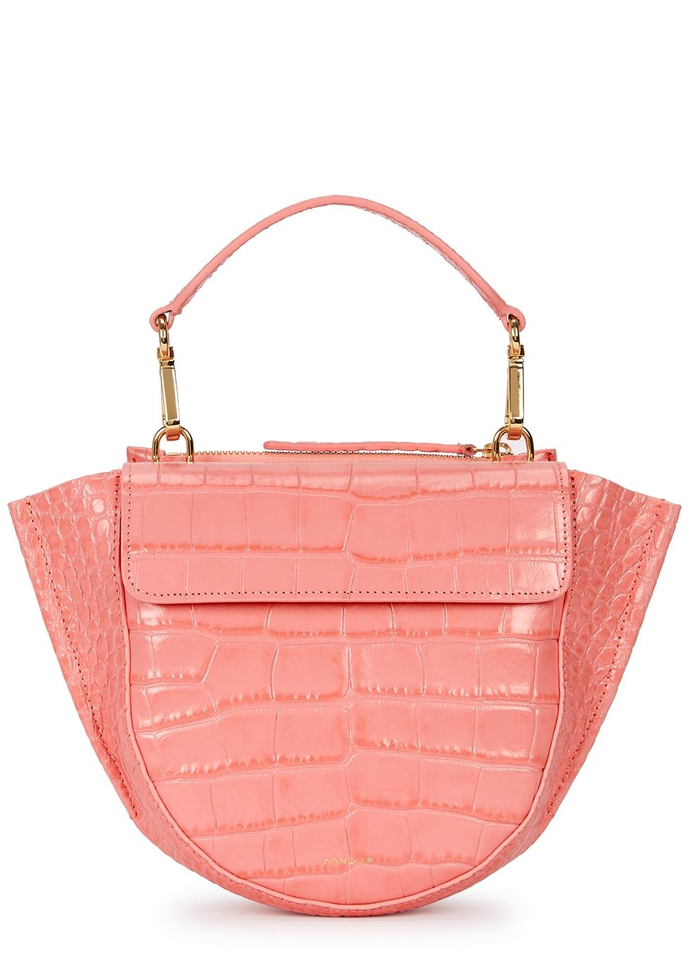 Hortensia mini leather top handle bag