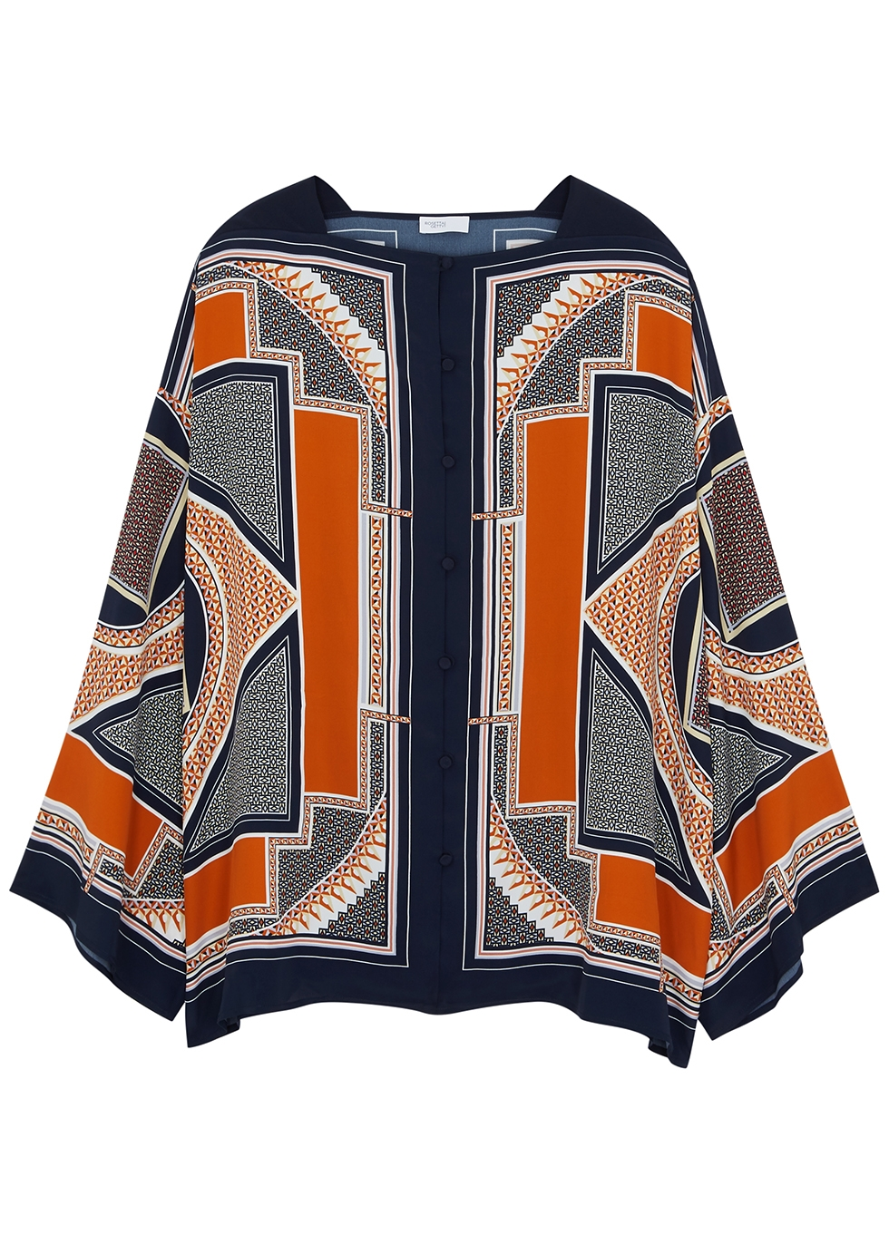 Printed kaftan blouse