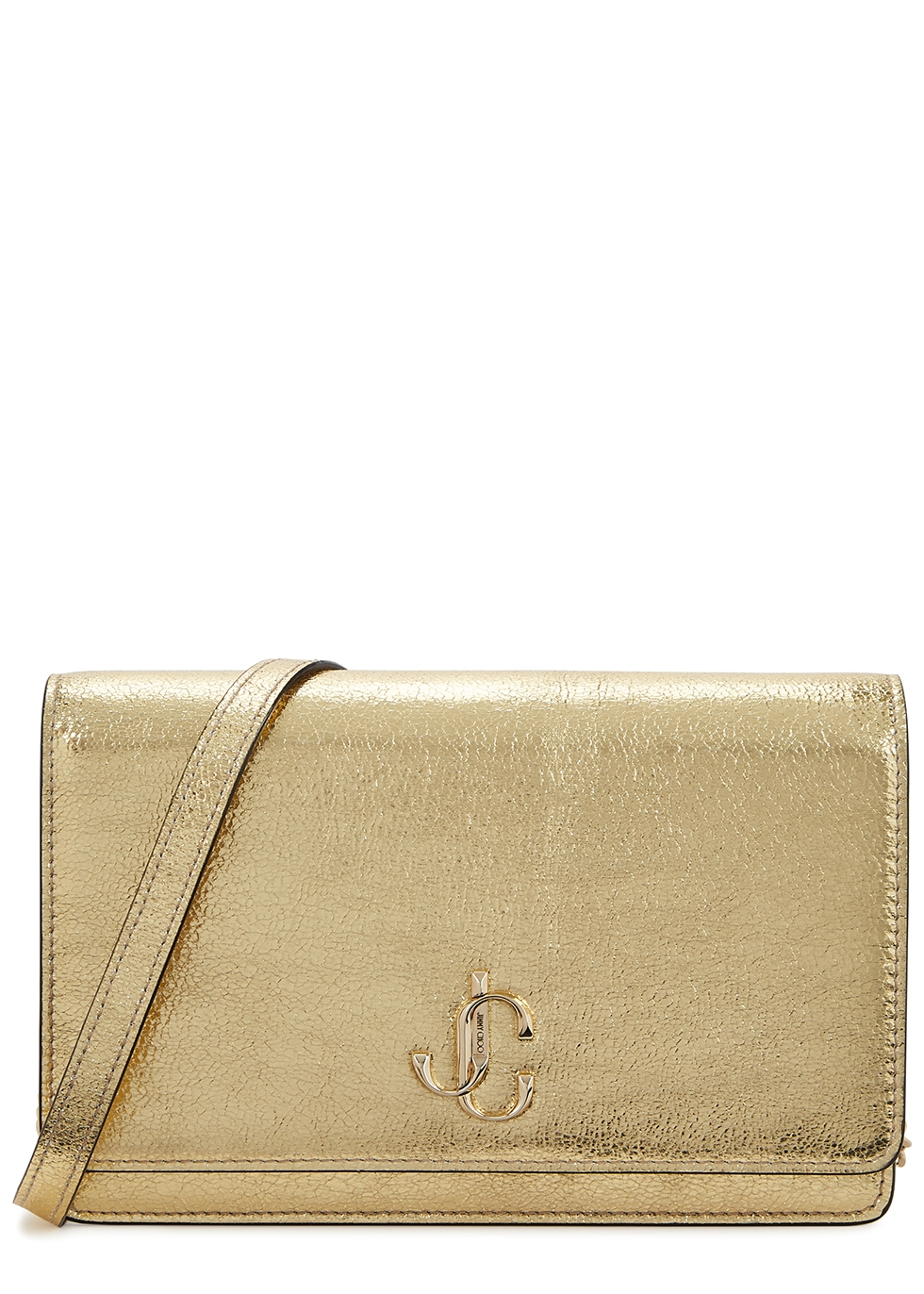 Palace gold leather wallet-on-chain