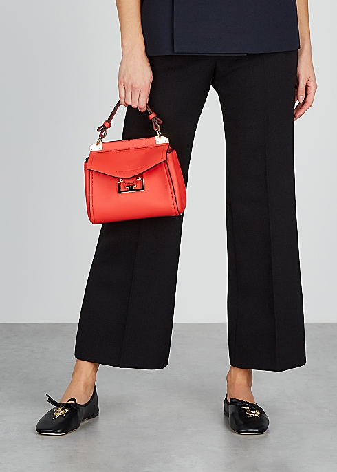 Givenchy Mystic mini red leather top handle bag - Harvey Nichols