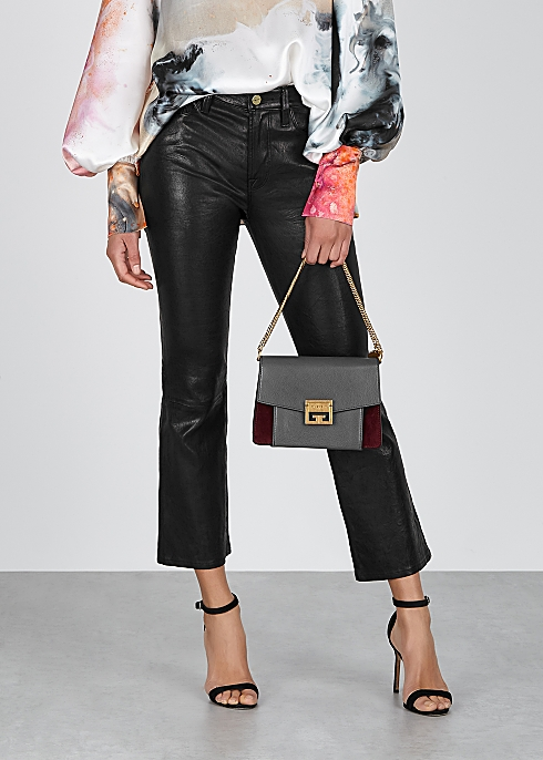 Givenchy GV3 small leather and suede shoulder bag - Harvey Nichols